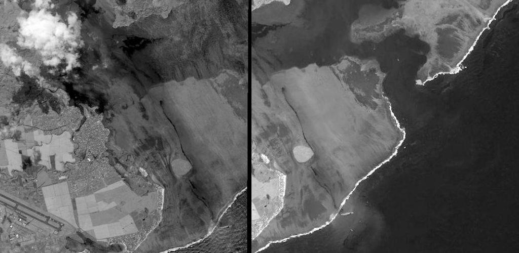 Images worldview du 8 août. Image pour traitement pansharpening, pas très utile en analyse mais on y devine quand même les traces d'huiles.